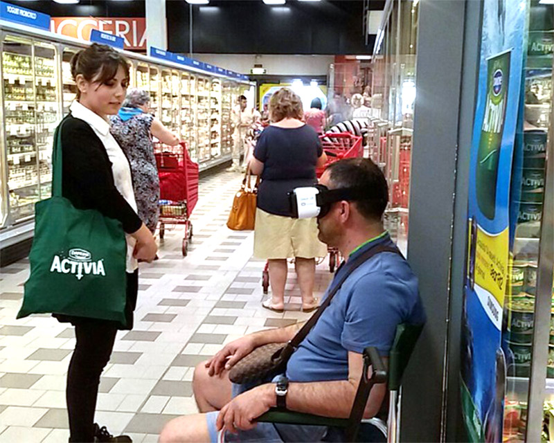 ACTIVIA - Shopper engagement in partnership con Samsung – Oculus Experience